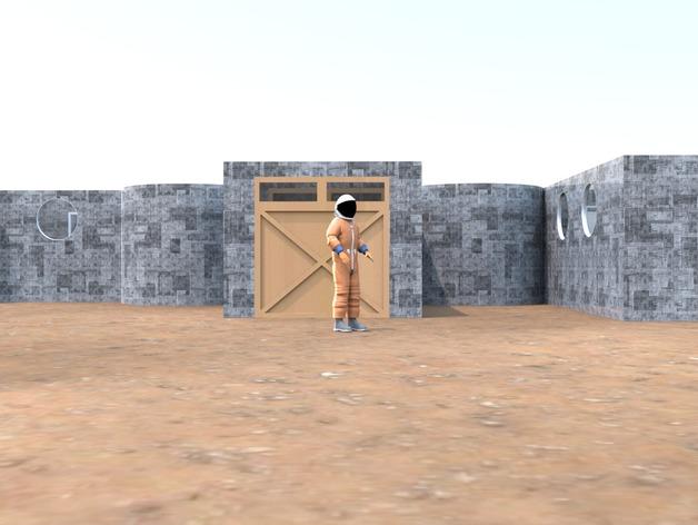 火星基地-建筑模型